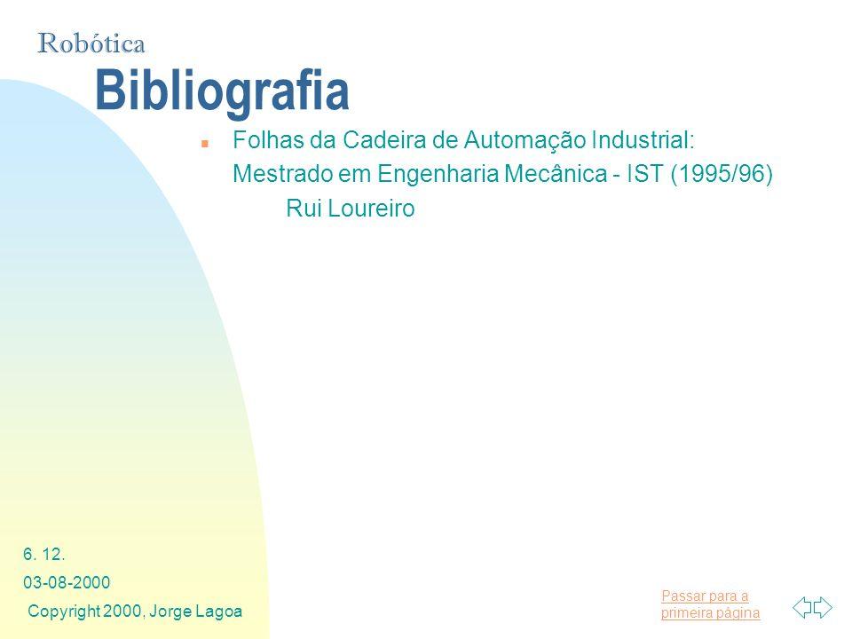 Bibliografia Folhas da Cadeira de Automação Industrial: