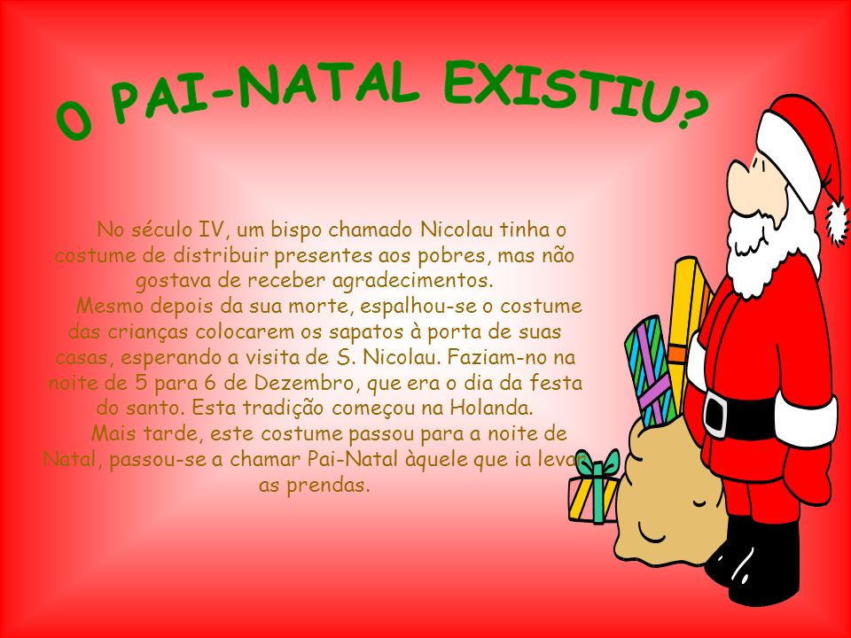 0 PAI-NATAL EXISTIU
