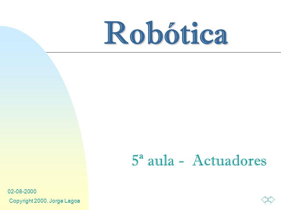 5ª aula - Actuadores 02-08-2000 Copyright 2000, Jorge Lagoa