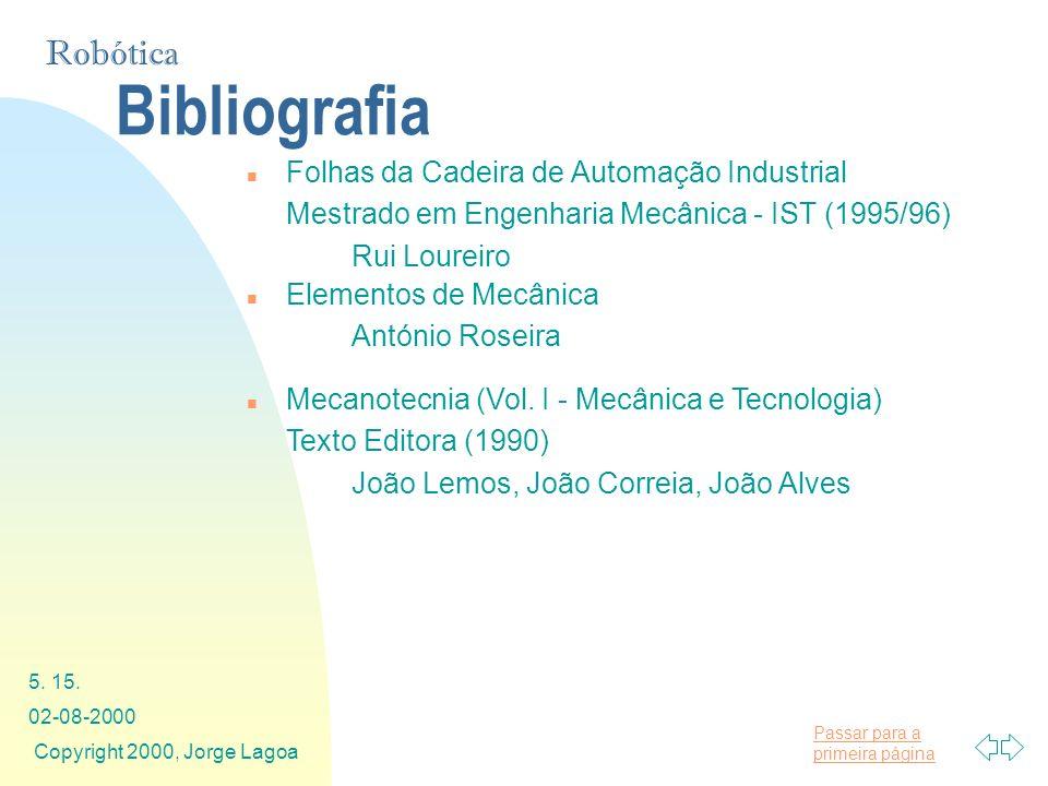 Bibliografia Folhas da Cadeira de Automação Industrial