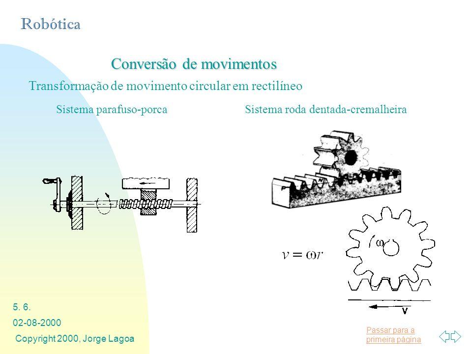 Conversão de movimentos
