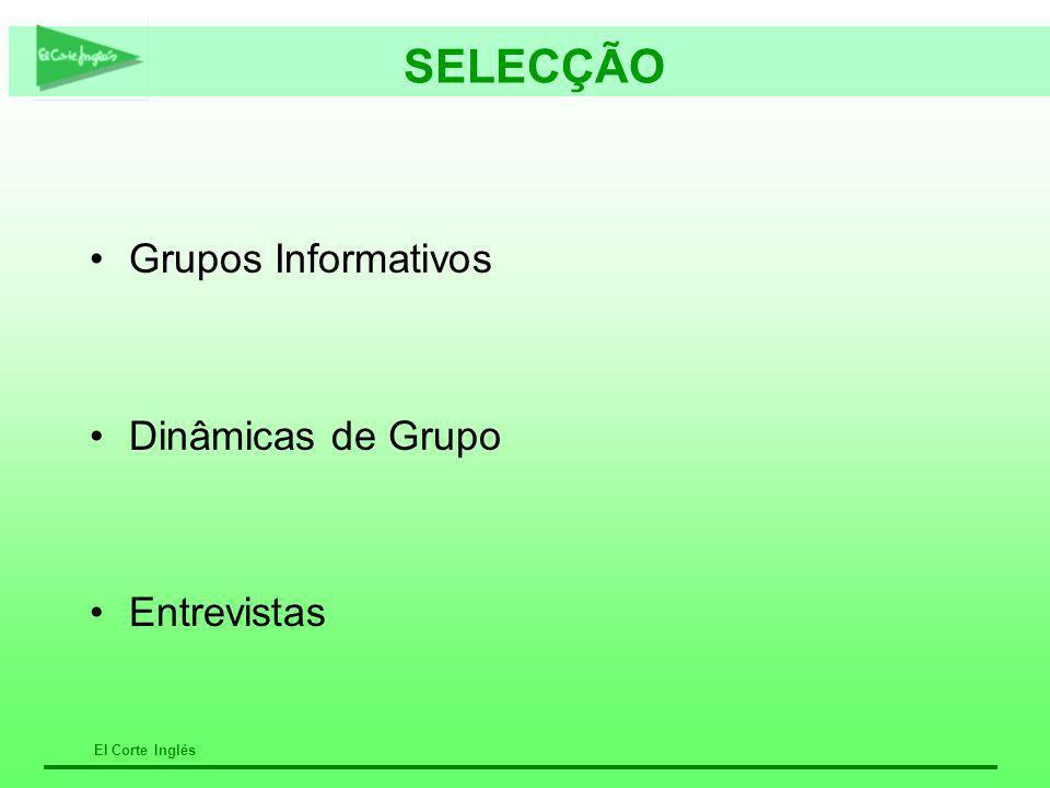 SELECÇÃO Grupos Informativos Dinâmicas de Grupo Entrevistas CRISTINA