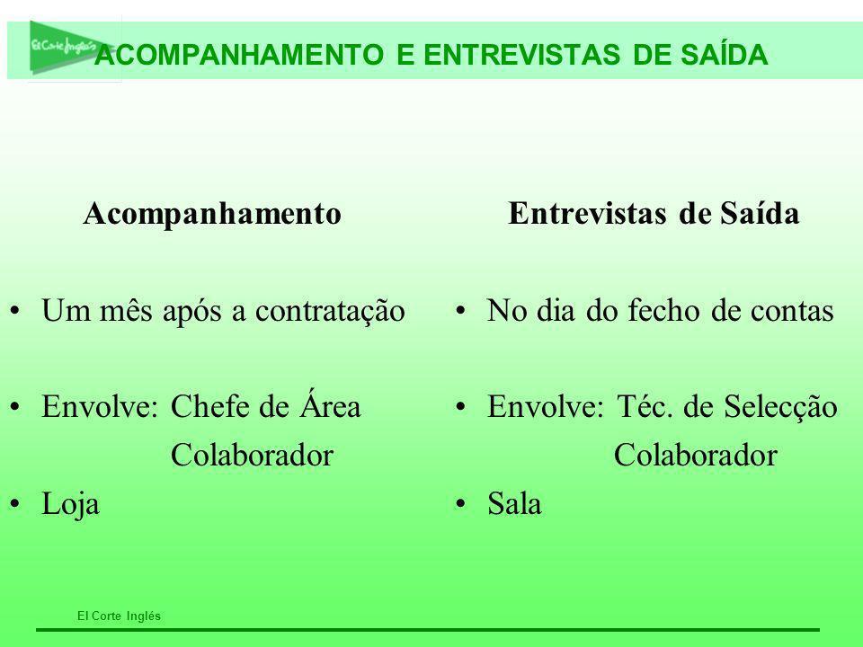ACOMPANHAMENTO E ENTREVISTAS DE SAÍDA