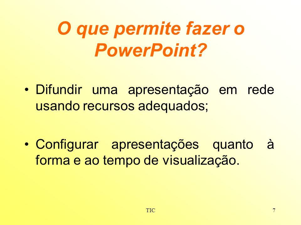 O que permite fazer o PowerPoint