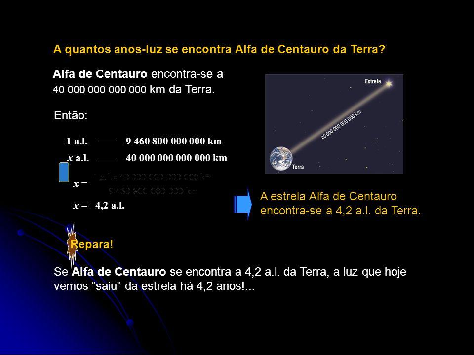 A quantos anos-luz se encontra Alfa de Centauro da Terra