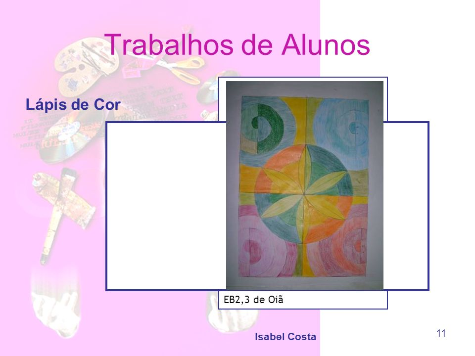 Trabalhos de Alunos Lápis de Cor EB2,3 de Oiã Isabel Costa