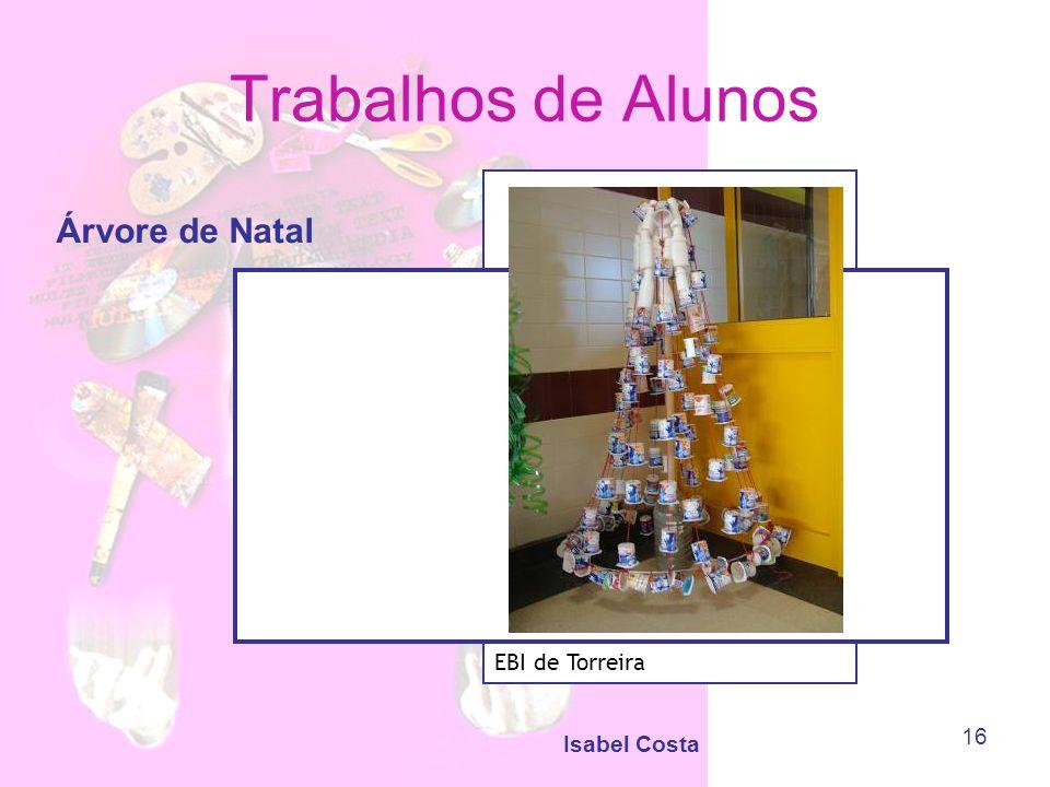 Trabalhos de Alunos Árvore de Natal EBI de Torreira Isabel Costa