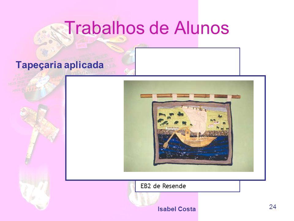 Trabalhos de Alunos Tapeçaria aplicada EB2 de Resende Isabel Costa