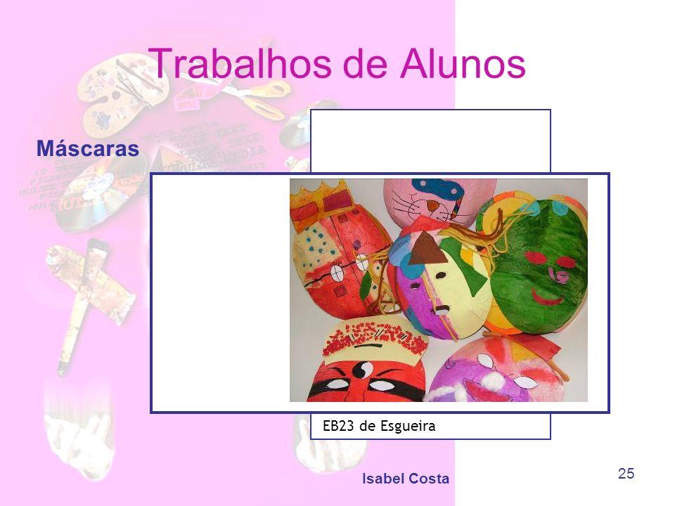 Trabalhos de Alunos Máscaras EB23 de Esgueira Isabel Costa