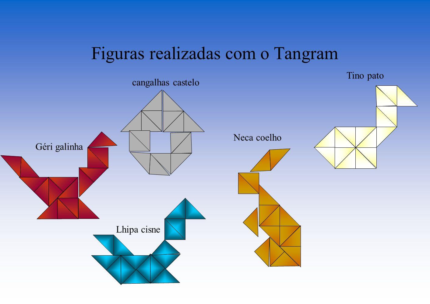 Figuras realizadas com o Tangram