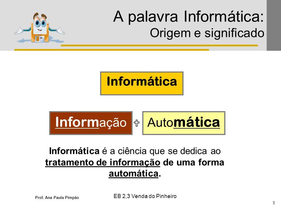 A palavra Informática: Origem e significado