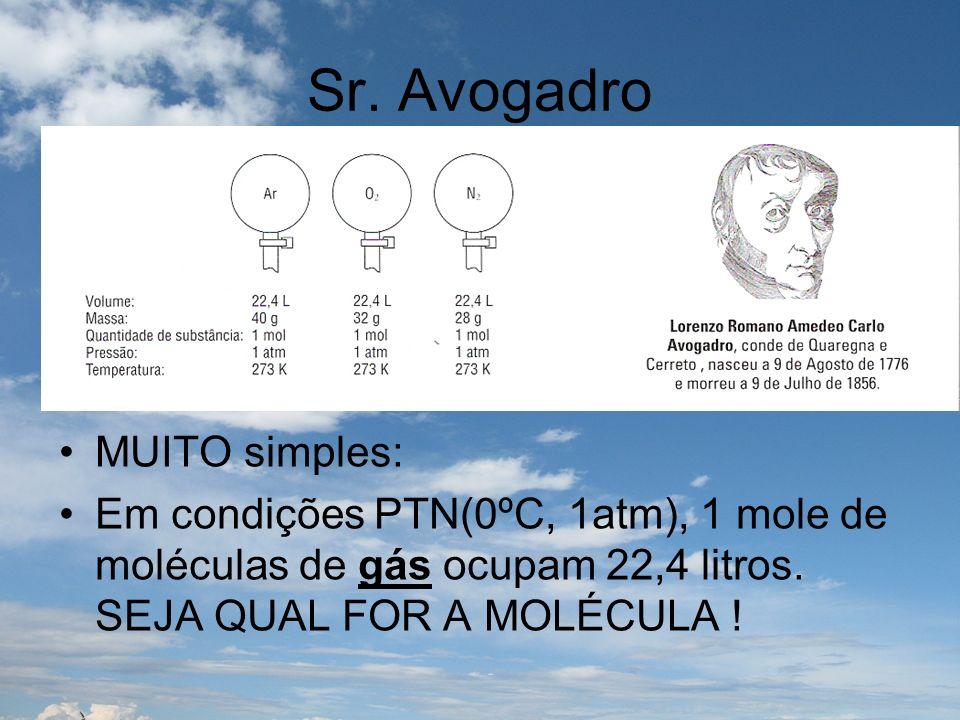 Sr. Avogadro MUITO simples: