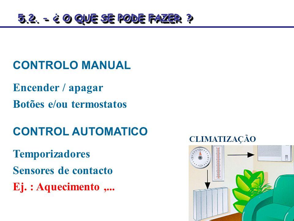 Botões e/ou termostatos
