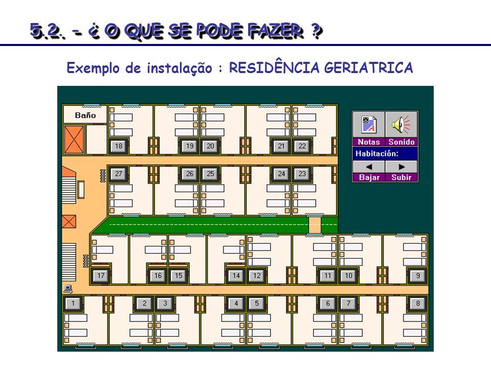 5.2. - ¿ O QUE SE PODE FAZER r Exemplo de instalação : RESIDÊNCIA GERIATRICA