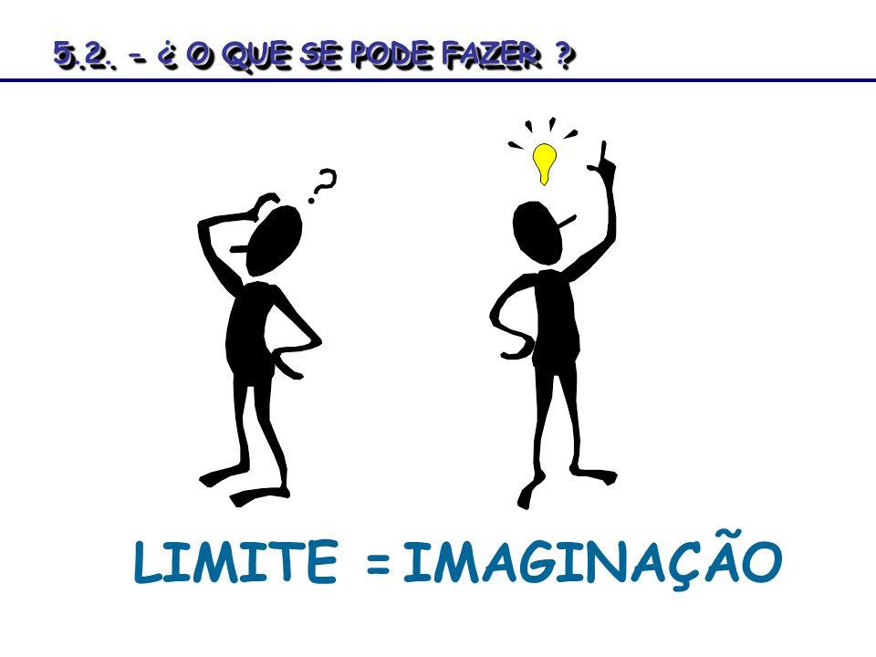 5.2. - ¿ O QUE SE PODE FAZER LIMITE = IMAGINAÇÃO