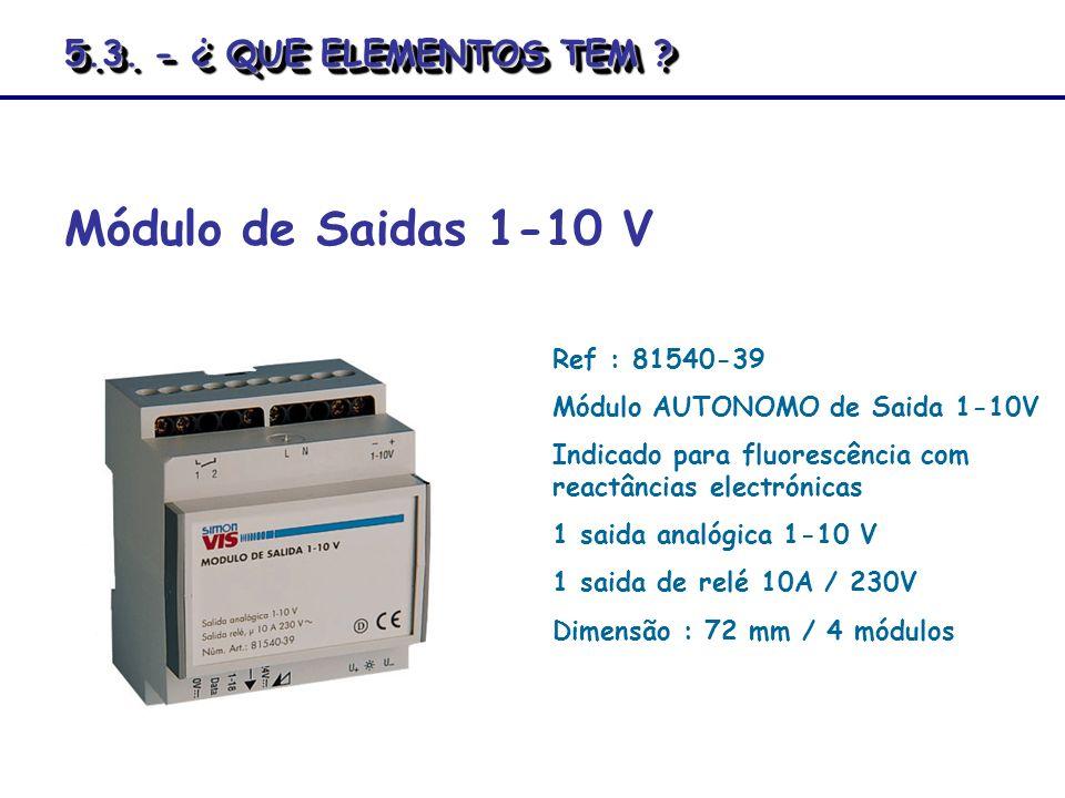 Módulo de Saidas 1-10 V 5.3. - ¿ QUE ELEMENTOS TEM Ref : 81540-39