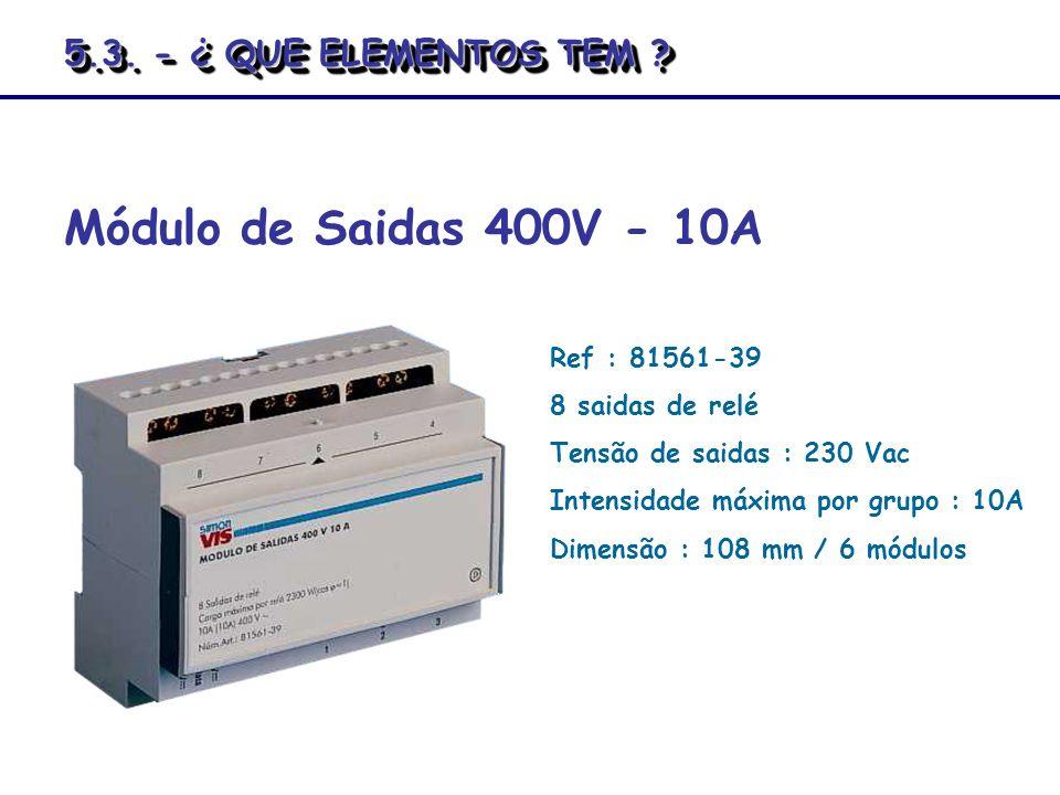 Módulo de Saidas 400V - 10A 5.3. - ¿ QUE ELEMENTOS TEM