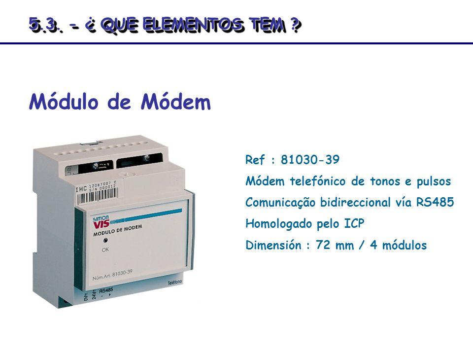 Módulo de Módem 5.3. - ¿ QUE ELEMENTOS TEM Ref : 81030-39