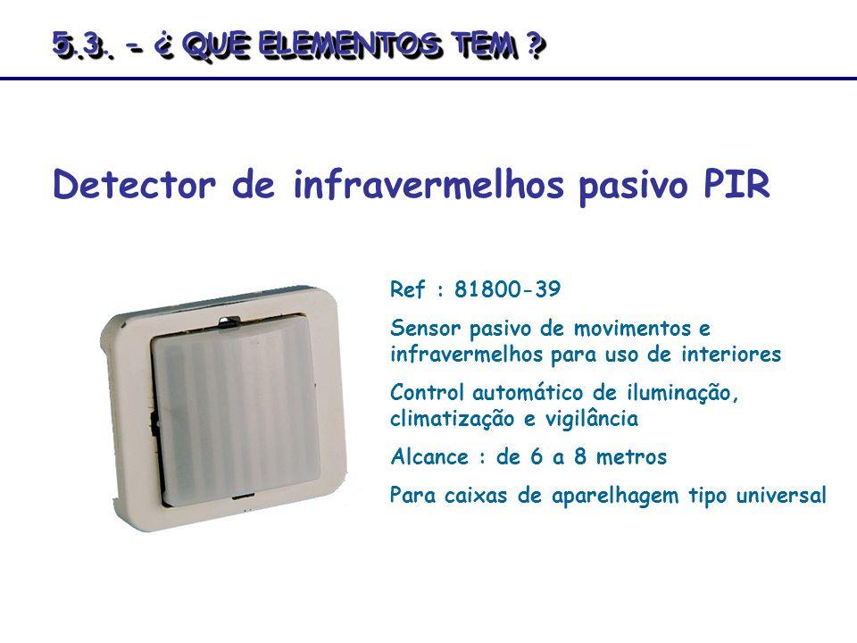 Detector de infravermelhos pasivo PIR