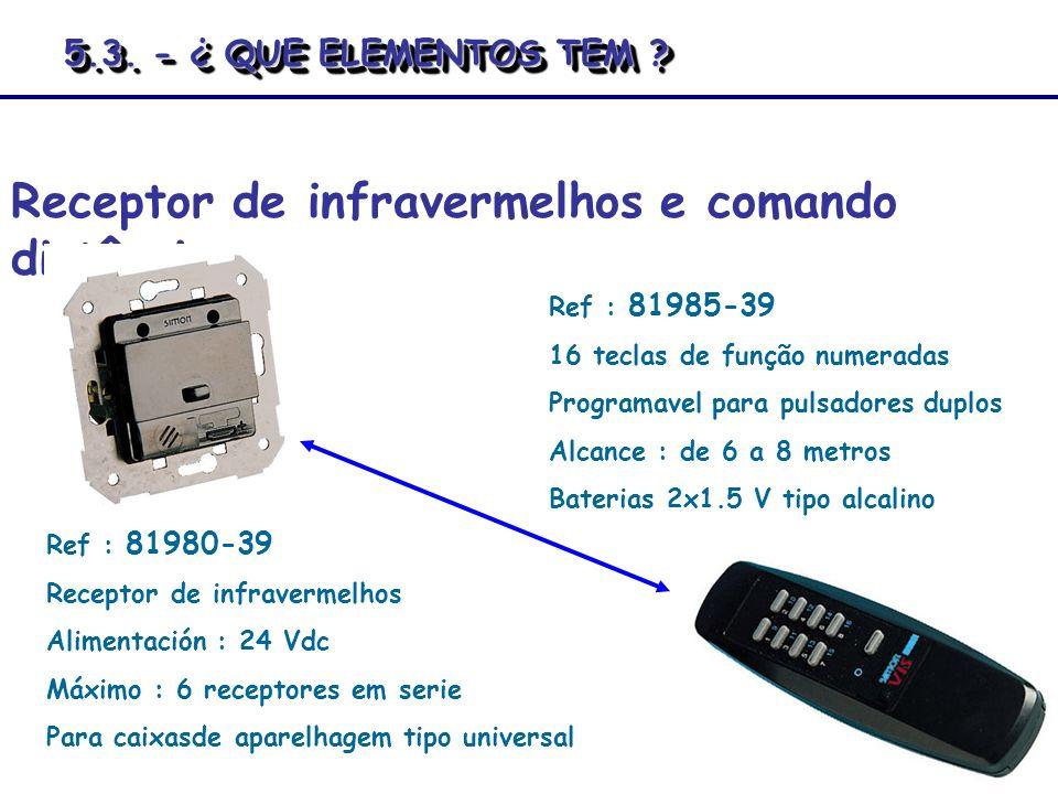Receptor de infravermelhos e comando distância