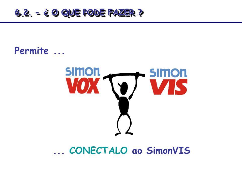 6.2. - ¿ O QUE PODE FAZER Permite ... ... CONECTALO ao SimonVIS