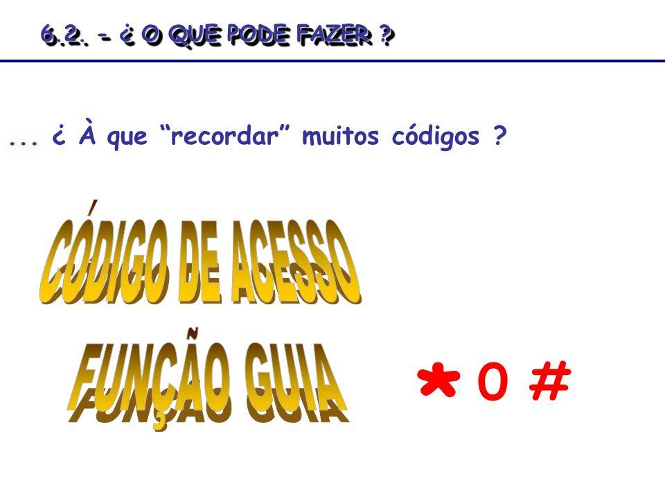 * 0 # CÓDIGO DE ACESSO FUNÇÃO GUIA