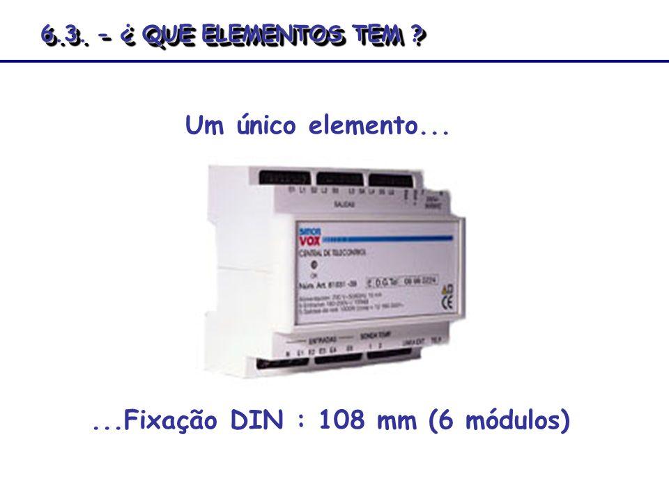 ...Fixação DIN : 108 mm (6 módulos)