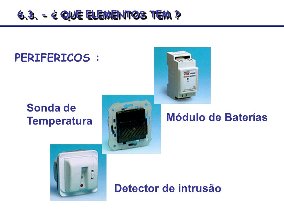 PERIFERICOS : Sonda de Temperatura Módulo de Baterías