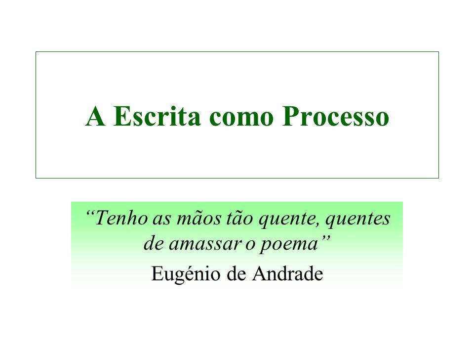 A Escrita como Processo