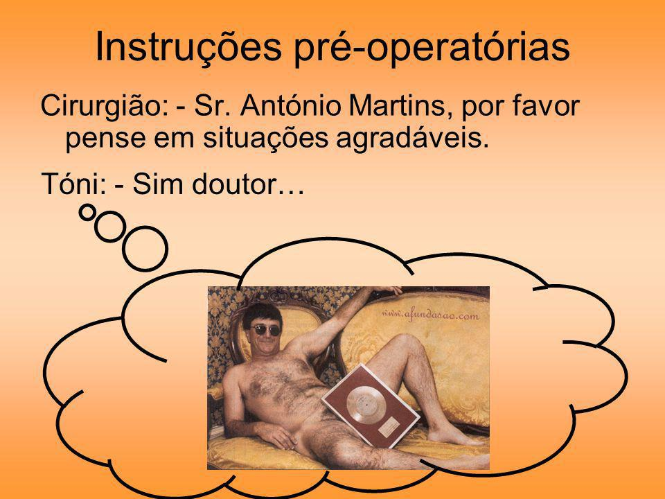 Instruções pré-operatórias