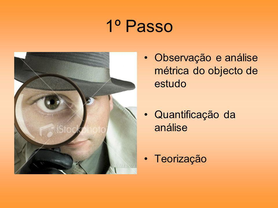 1º Passo Observação e análise métrica do objecto de estudo
