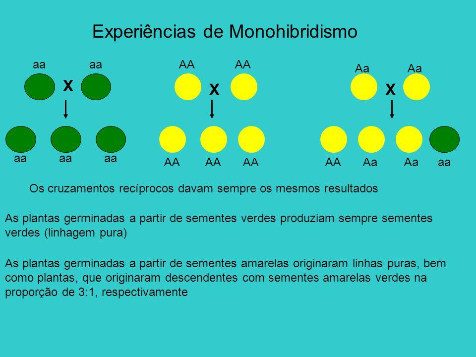 Experiências de Monohibridismo