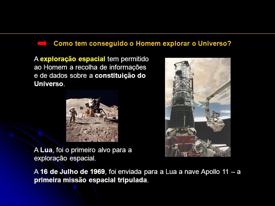 Como tem conseguido o Homem explorar o Universo