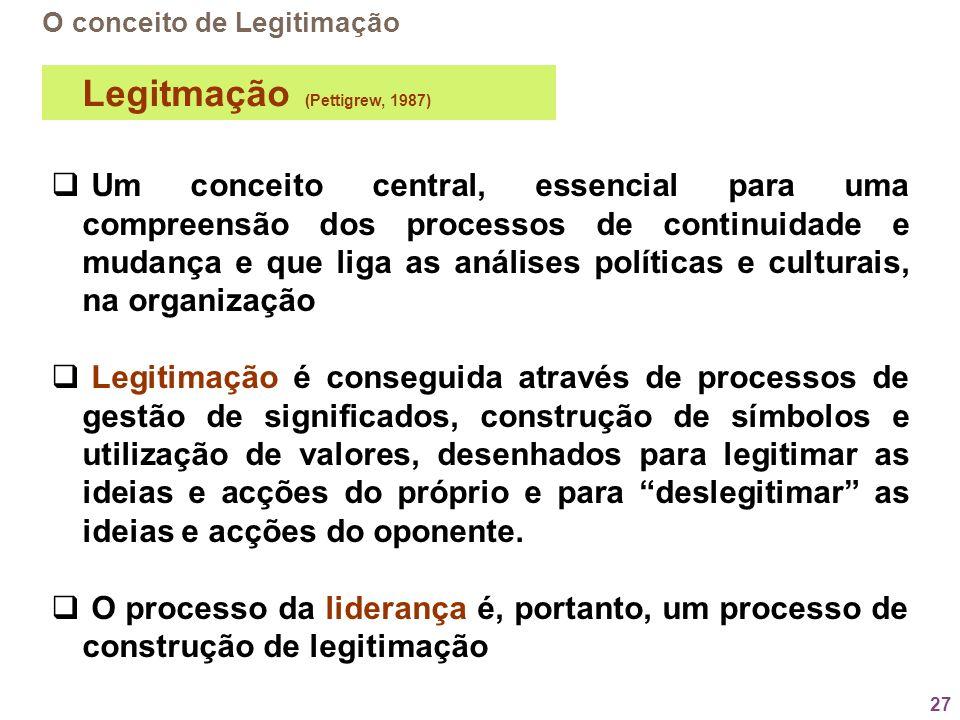 Legitmação (Pettigrew, 1987)