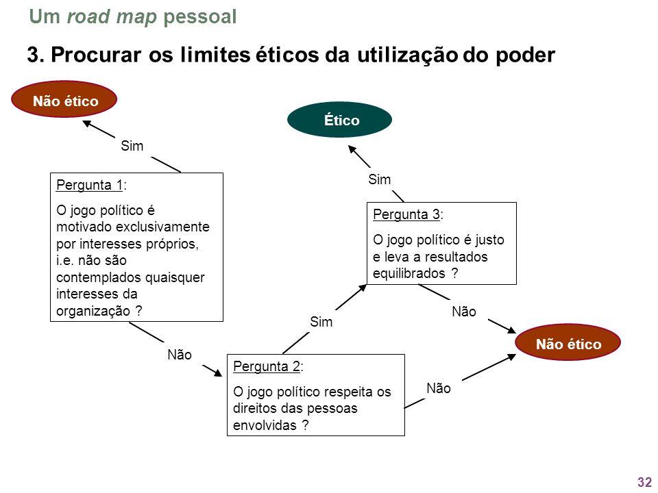 3. Procurar os limites éticos da utilização do poder