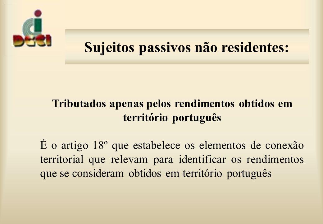 Sujeitos passivos não residentes: