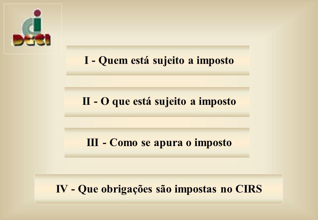IV - Que obrigações são impostas no CIRS