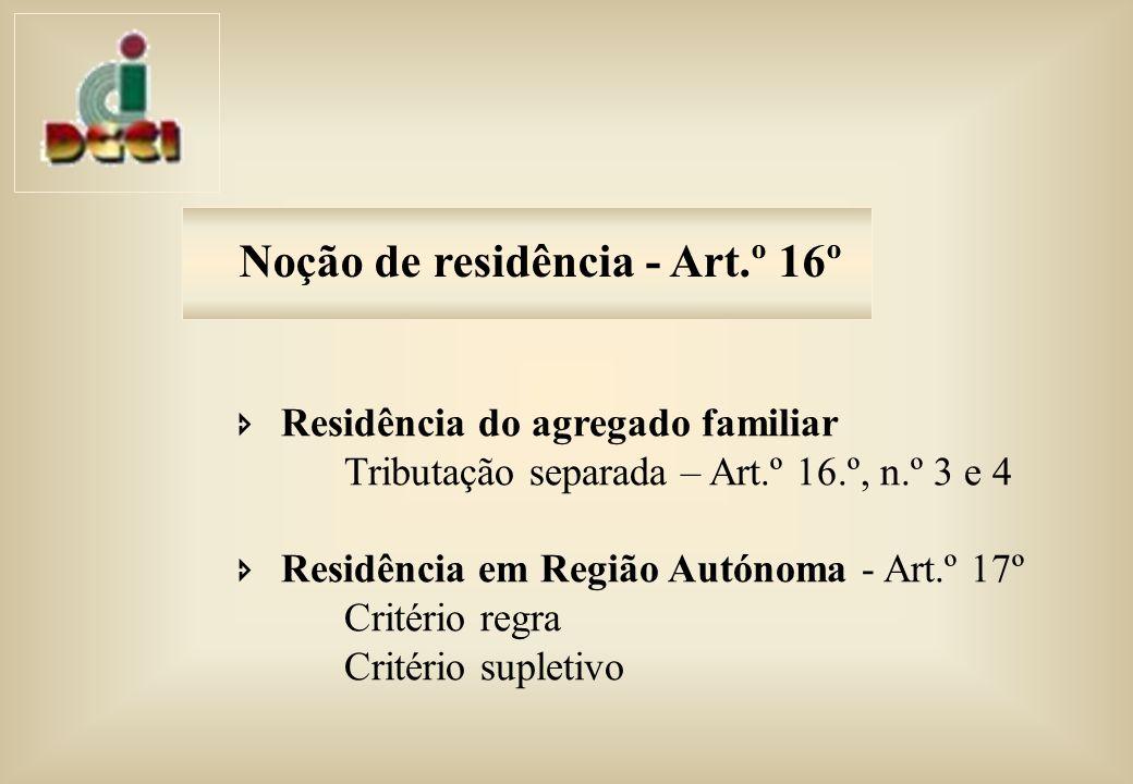 Noção de residência - Art.º 16º