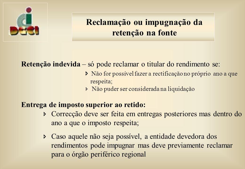Reclamação ou impugnação da retenção na fonte