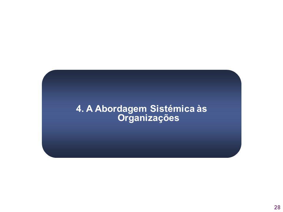4. A Abordagem Sistémica às Organizações