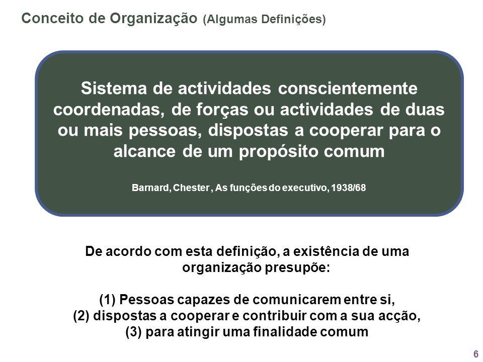 Conceito de Organização (Algumas Definições)