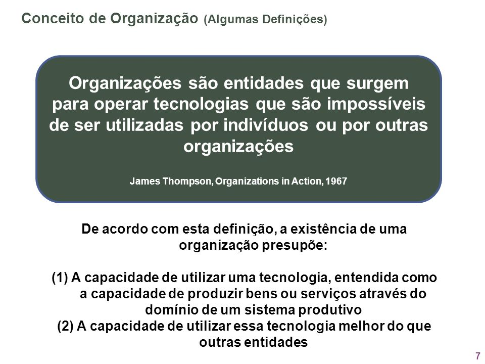 James Thompson, Organizations in Action, 1967