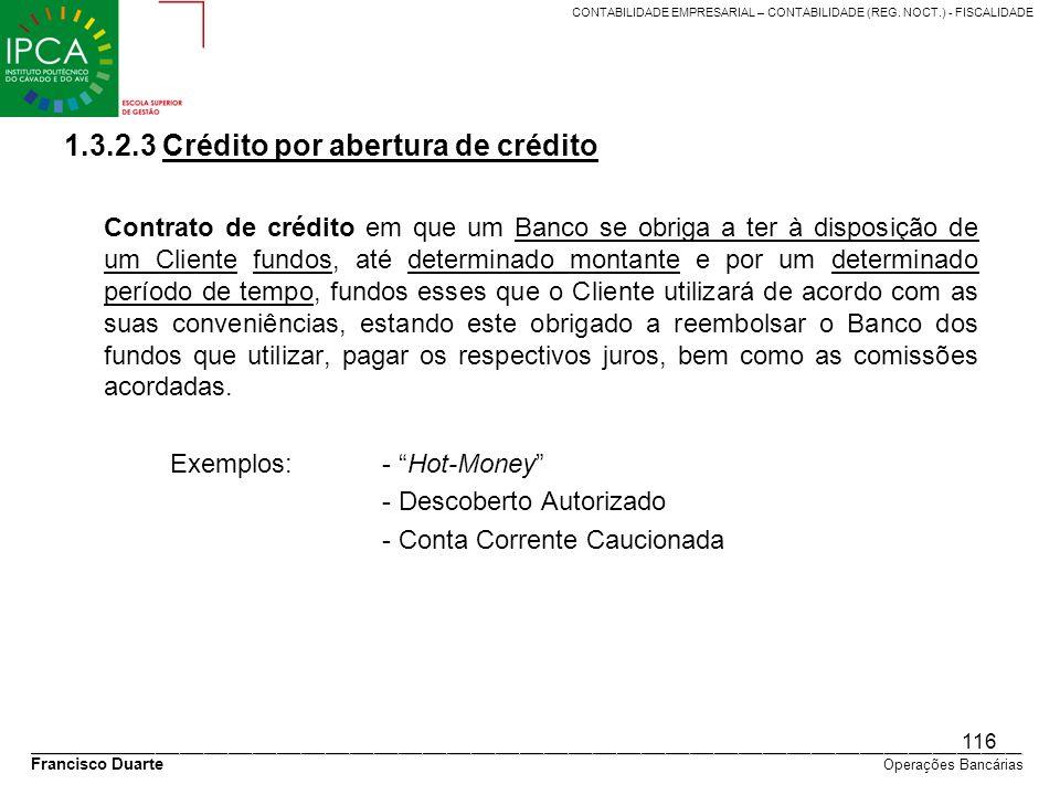 1.3.2.3 Crédito por abertura de crédito