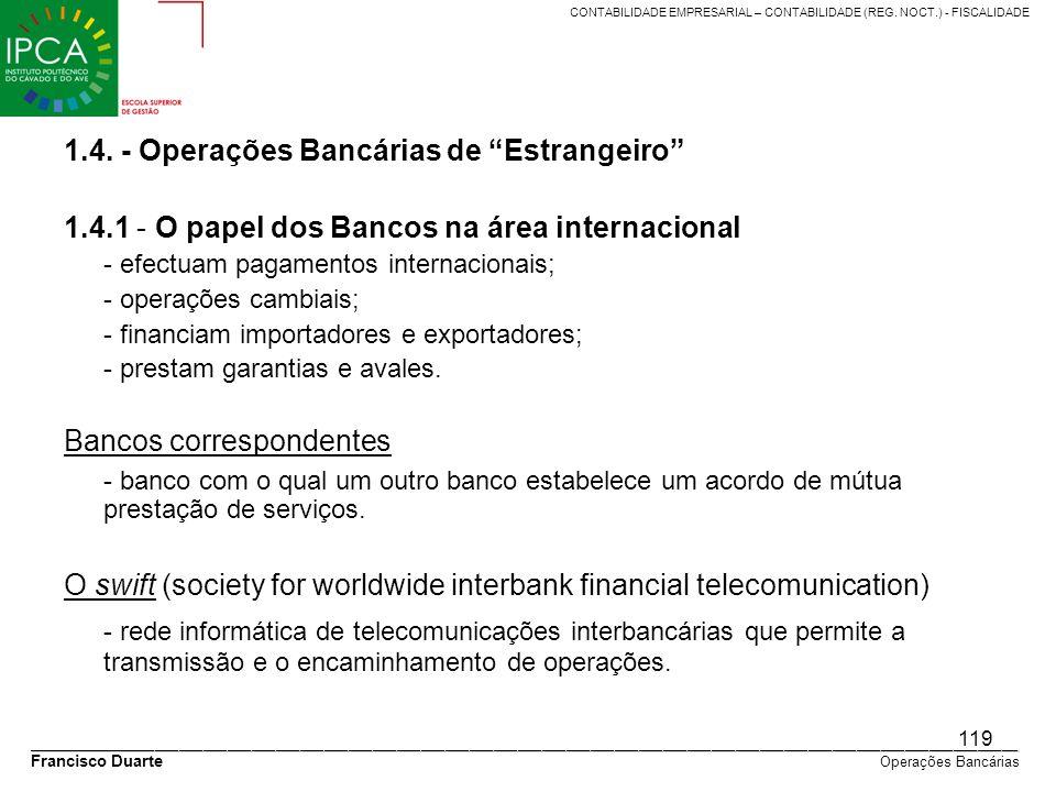 1.4. - Operações Bancárias de Estrangeiro