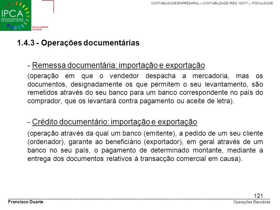 1.4.3 - Operações documentárias