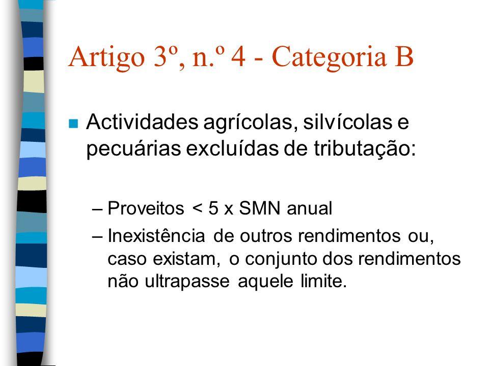 Artigo 3º, n.º 4 - Categoria B