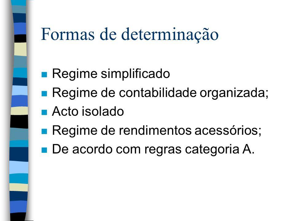 Formas de determinação