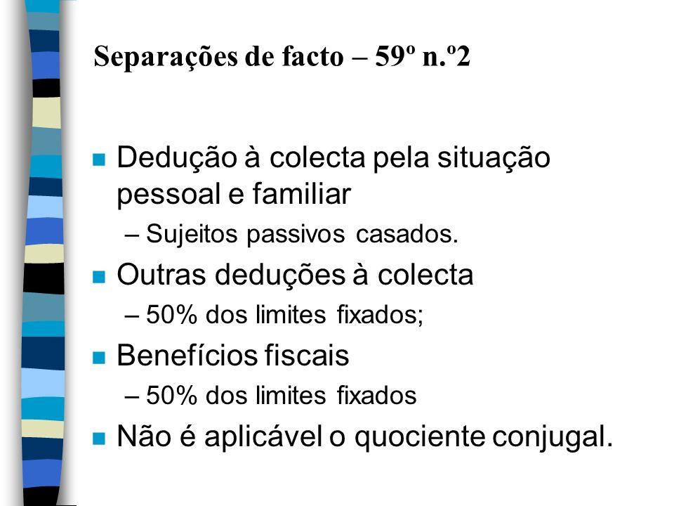 Separações de facto – 59º n.º2
