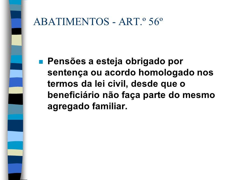 ABATIMENTOS - ART.º 56º