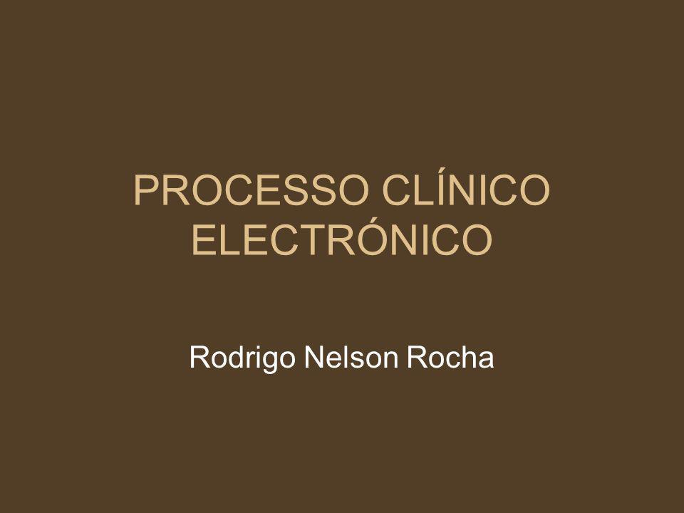 PROCESSO CLÍNICO ELECTRÓNICO